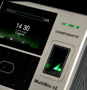 Compumatic MultiBio v2 Biometric Fingerprint and Facial Recognition Time Clock
